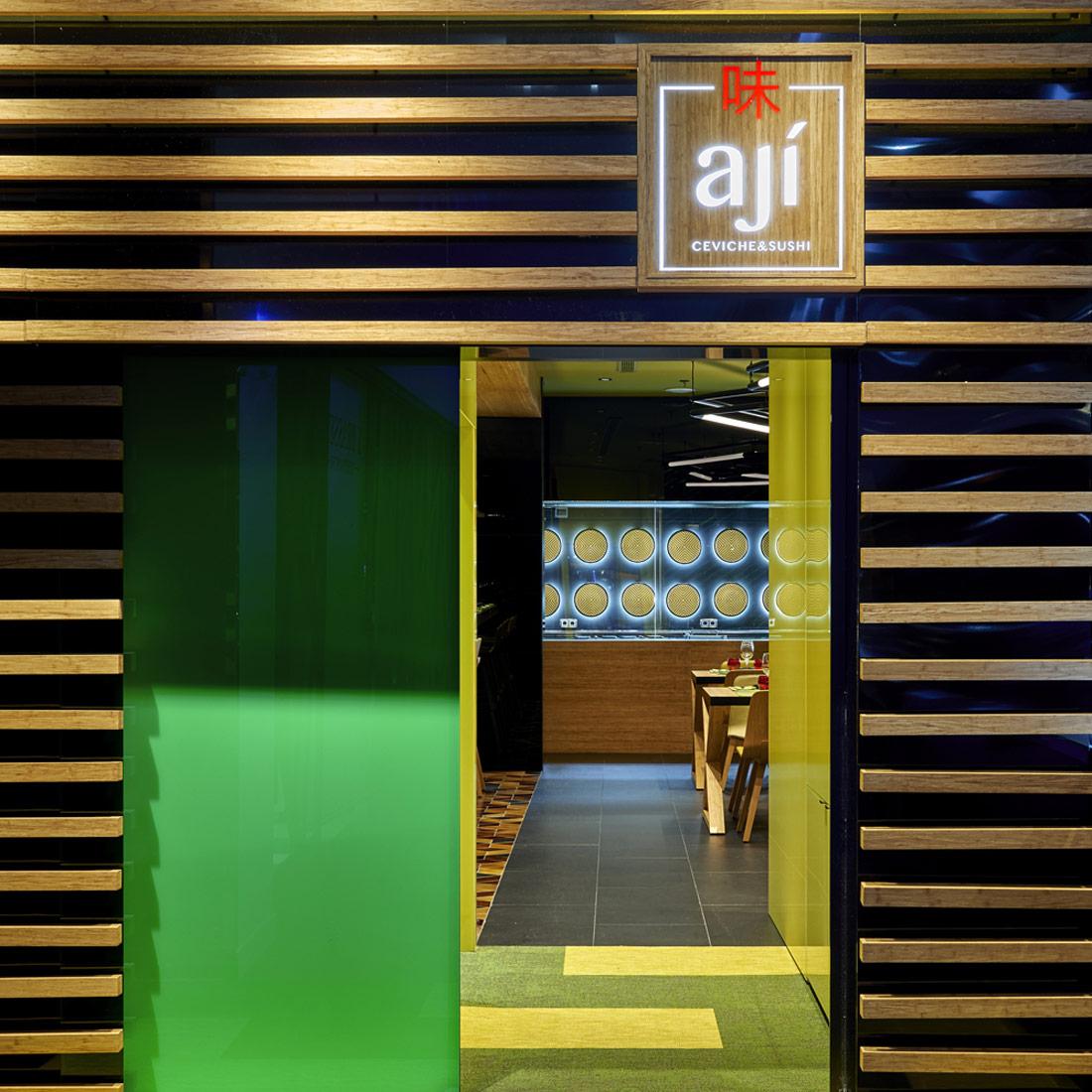 fugrup-restaurante-aji-barcelona- interiorismo de un restaurante